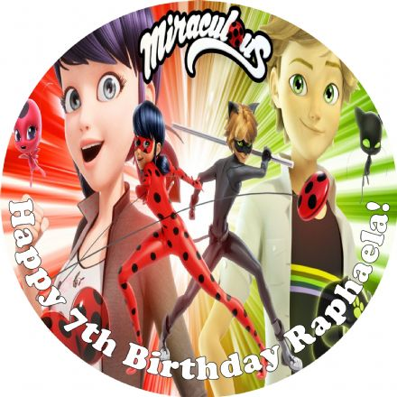 Miraculous Edible Cake Topper